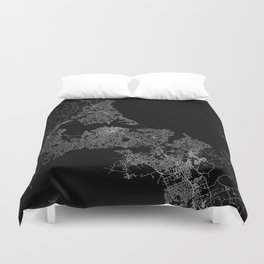 Auckland map New Zeland Duvet Cover