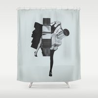 wisconsin Shower Curtains featuring Wisconsin Avenue by Joe Castro