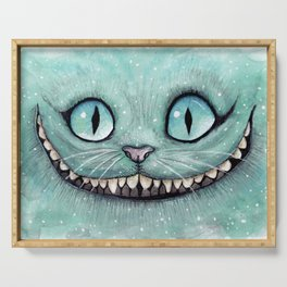 Cheshire Cat - Drawing - Dibujados Serving Tray