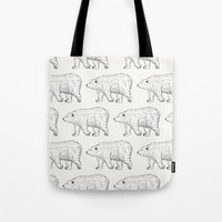 bears Tote Bags featuring Bears by Adam Lindfors