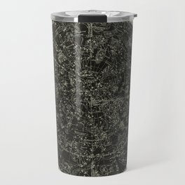 Constellations of the Northern Hemisphere on Vintage Paper Travel Mug