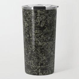 Constellations of the Northern Hemisphere on Vintage Paper Travel Mug