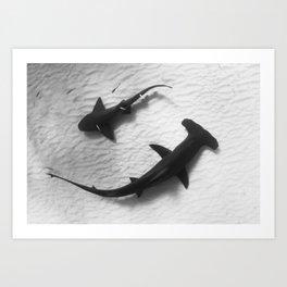 Shark Yin Yang Art Print