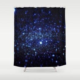Dark Blue Stars Shower Curtain