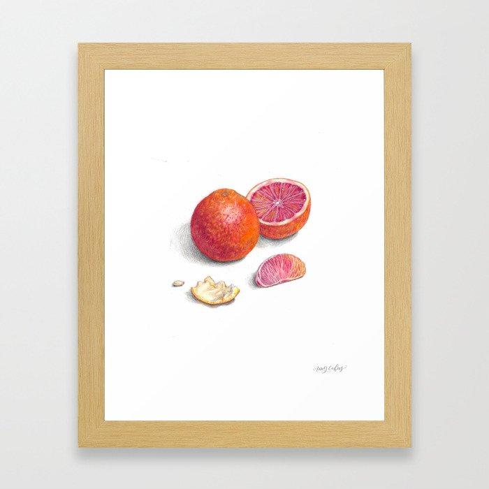Blood Orange Study Framed Art Print