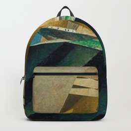 Mid Ocean nautical landscape painting by Lyonel Feininger Backpack