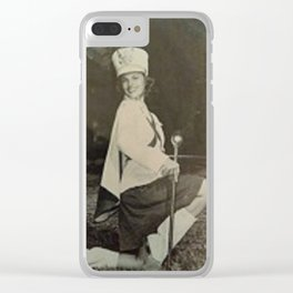 Drill Team Pinup Clear iPhone Case