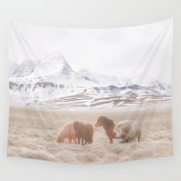 WILD AND FREE 3 - HORSES OF ICELAND Wall Tapestry