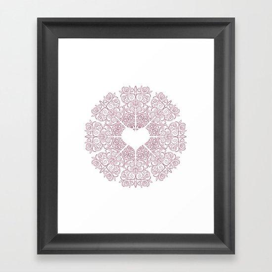 Love Lace Framed Art Print
