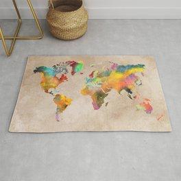 World map 1 Rug