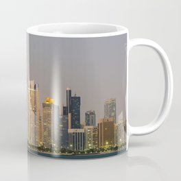 Abu Dhabi Seascape with skyscrapers in the background at evening Coffee Mug