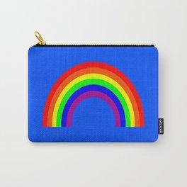 Rainbow on Blue Carry-All Pouch