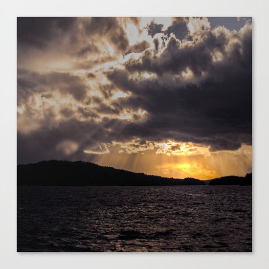 Dramatic change in the weather Canvas Print