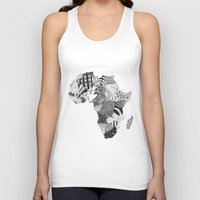 south africa Tank Tops featuring Africa by Kacenka