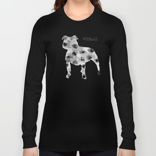 the pit bull dog  Long Sleeve T-shirt