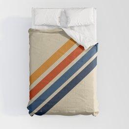 Rainbow 70s 60s Stripe Colorful Rainbow Tan Retro Vintage Comforters