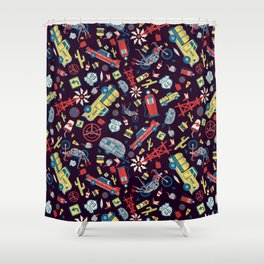 I Heart Route 66 Shower Curtain