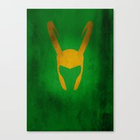 loki Canvas Prints featuring Loki by Some_Designs