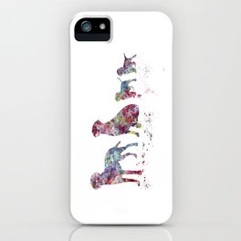 Labrador family iPhone Case