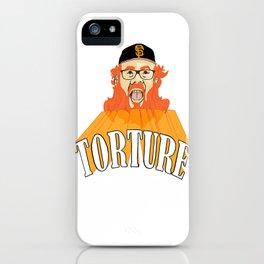 San Francisco Baseball Torture iPhone Case