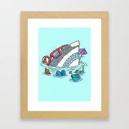 Beach Party Shark Framed Art Print