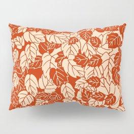 Japanese Leaf Print, Mandarin Orange Pillow Sham