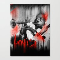 louis Canvas Prints featuring Louis by Daniel Malta