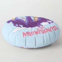 Four Horsemittens Of The Meowpocalypse Floor Pillow