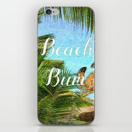 Beach Bum Summer Fun iPhone Skin
