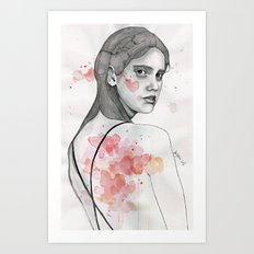 Monday nostalgia, watercolor artwork Art Print