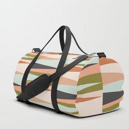 Scandinavian Geometry Pattern green #Homedecor Duffle Bag