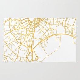 TOKYO JAPAN CITY STREET MAP ART Rug