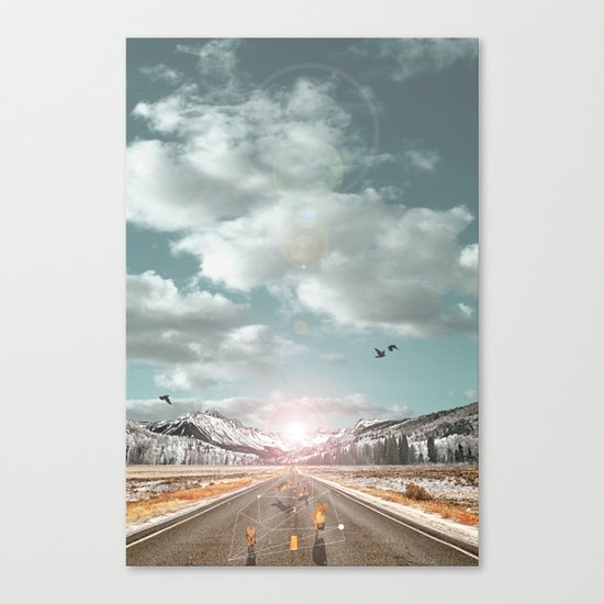 THE PURSUIT OF THE RED FREEDOM Canvas Print