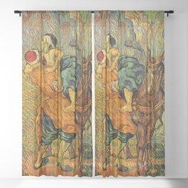 "Vincent Van Gogh ""The Good Samaritan"" Sheer Curtain"