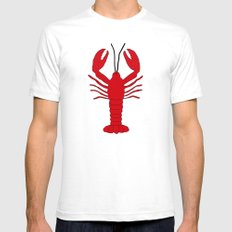 Lobstah White Mens Fitted Tee SMALL