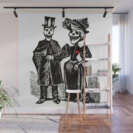 Calavera Couple | Skeleton Couple | Calaveras | Vintage Couple | Victorian Gothic | Wall Mural