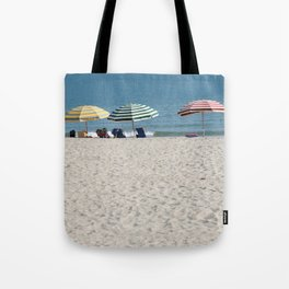 Bald Head Island Beach Umbrellas | Bald Head Island, North Carolina Tote Bag