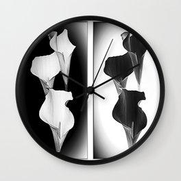 Calla Lillies. Black + White. Wall Clock