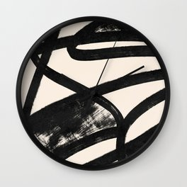 That was a cow - Abstraction print Wall Clock