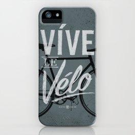 Vive Le Velo 2011 grayscale iPhone Case