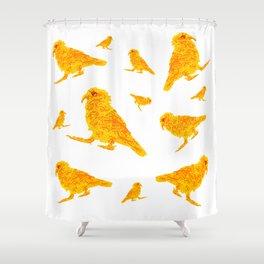 Kea Yellow Multiple - white background Shower Curtain