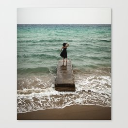 The Woman And The Sea Canvas Print