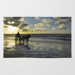 sunset on texel Rug