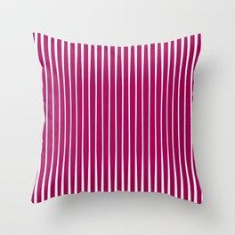 Crimson Striped Throw Pillow