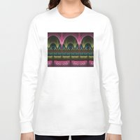 theatre Long Sleeve T-shirts featuring Theatre of Fantasy Fractal by gabiw Art
