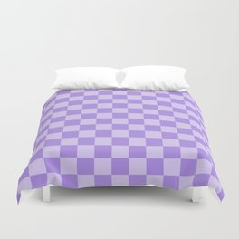 Lavender Check Duvet Cover
