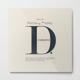 Umberto D, Vittorio De Sica, italian movie poster, neorealist film, neorealismo, cinema italiano Metal Print