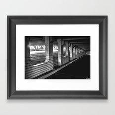 Gritty Parking Framed Art Print