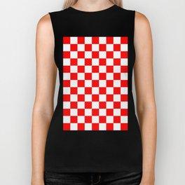 Checker (Red/White) Biker Tank