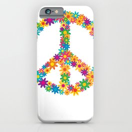 Floral Peace Sign iPhone Case